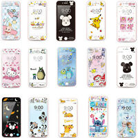 Cartoon Tempered Glass Screen Protector For iPhone XS Max XR XS X 8 7 6 6S Plus