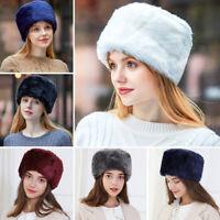 Women's Ladies Luxury Faux Fur Snow Hat Russian Winter Warmer Ear Cap Ski Hats
