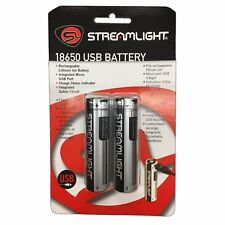 Streamlight USB Rechargeable 18650 Lithium-Ion Battery - 2 Pack - 22102