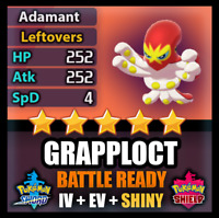 Pokemon Sword and Shield SHINY 6IV Grapploct BATTLE READY Competitive FAST