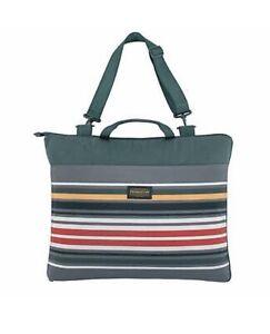 "Pendleton Reversible Outdoor Packable Blanket 60""x72"" Stripe Green NEW"