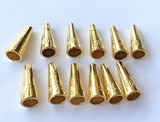24PCS Gold Plated Bead Cone-Jewelry Supplies