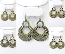 12 PR WHOLESALE LOT Rhinestone COSTUME FASHION Earrings