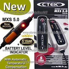 CTEK MXS 5.0 12v Auto Moto Caravane AUTOMATIQUE compresseur + Batterie