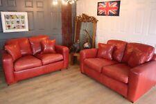 Designer handmade DURESTA leather sofas suite RRP £8000