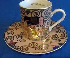 GOEBEL GUSTAV KLIMT EXPECTATION NOUVEAU DEMITASSE COFFEE MOCHA CUP & SAUCER 5693