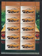 A 31 ) Germany 2017 ** German cars: Opel Manta A   Sheet 10 MNH Stamps