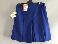 BNWT Older Girls Royal Blue Stubbies Sz 10 School Uniform Skort Style Culottes