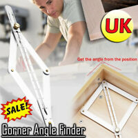 Professional Multi-angle Corner Angle Finder Stainless Steel Protractor Ruler -*