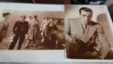 Black and white photo postcards. Actor Humphrey   Bogart. Scene from Casablanca