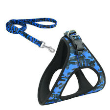 Reflective Dog Vest Soft Padded Dog Harness & Leash set for Small to Large Dogs