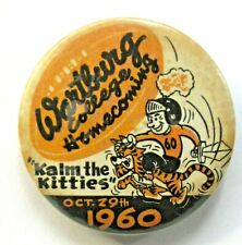 "1960 WARTBURG COLLEGE HOMECOMING football 2 1/8"" pinback button a3"