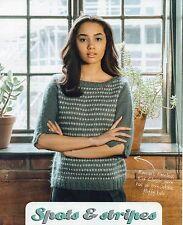 ~ lavoro a maglia modello per lady's a Pois & Stripe Sweater ~
