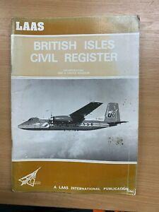 "1980 ""LAAS BRITISH ISLES CIVIL REGISTER"" AIRCRAFT LARGE PAPERBACK BOOK (P3)"