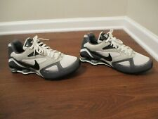 Used Worn Size 11 Nike Shox Heritage Shoes White Black Gray Silver