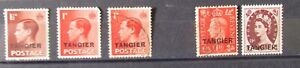 GB Tangier Postage Stamps 5 Stamps  used and mint