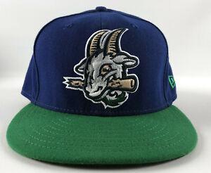 Hartford Yard Goats New Era 59Fifty Baseball Hat Blue & Green Size 7 1/2 - #36