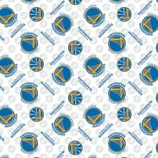 NBA GOLDEN STATE WARRIORS COTTON FABRIC MATERIAL, Fabric Sold By The 1/2 Yard!