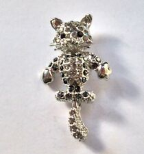 Cat Lapel Pin With Wagging Tail Feature In Quality Box