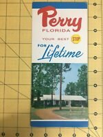 Vintage Travel Brochure Perry Florida your best Stop for a Lifetime Motel