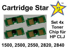 Set 4x Toner Reset Chip für HP Color Laserjet 1500 2500 2550 2820 2840