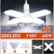 20000LM E27 Deformable LED Garage Light Bulb Adjustable Shop Ceiling Lights Lamp
