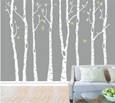 8pcs Big Birch Tree Wall Decal Removable Vinyl Tree Wall Sticker Nursery Home