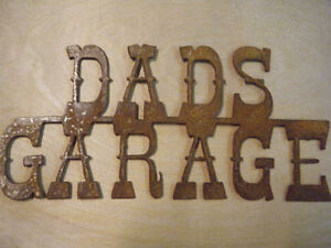 Metal Dads Garage Sign/Father's gift