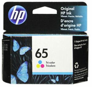 HP #65 Color Ink Cartridge 65 N9K01AN NEW GENUINE Exp 2021