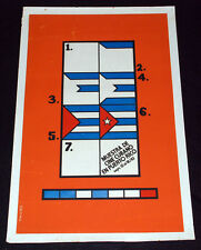 "1983 Original Cuban Movie Poster""Puerto Rico Cinema""Geometric ART.Cuba flag"