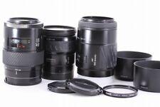 Minolta Lens 3 set | AF 100mm F2.8 | Xi 28-105mm F3.5-4.5 | 100-200mm F4.5 #5244