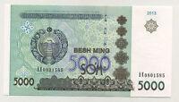 Uzbekistan 5000 Sum 2013 Pick 83 UNC Uncirculated Banknote