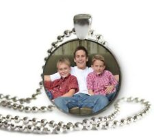 Father's Day Gift Custom Personalized Photo Necklace Keychain Your Image Unique!