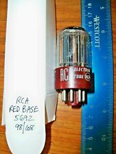 Strong RCA / GE Red Base Black Plate Double D Getter 5692 Tube - Rare Misprint
