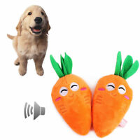 Pet Puppy Chew Squeaker Squeaky Plush Sound Pig Vegetable Carrot For Pet Toys