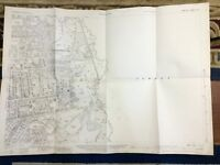 Antique Hampshire Map Farnborough  Surrey Border 1931 Old Maps