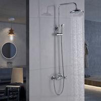 """8"""" Rain Shower Head Faucet Set Wall Mount Mixer Tap Handheld W/Shower Sprayer"""