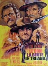THE GOOD THE BAD AND THE UGLY - EASTWOOD / LEONE - REISSUE LARGE MOVIE POSTER