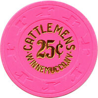 1985 Cattlemen's Casino Winnemucca, Nevada NV 25¢ Pink Fractional Chip
