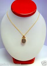 GORGEOUS LEVIAN 14K YELLOW GOLD CHOCOLATE AND WHITE DIAMOND PENDANT NECKLACE