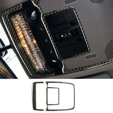 Carbon Fiber Reading Light Lamp Panel Trim Cover For BMW X5 X6 E70 E71 2008-13