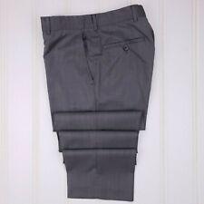 Hugo Boss Flat Front Pants 32x31 Gray Mens Wool Trouser Pant Scorsese / Movie Us
