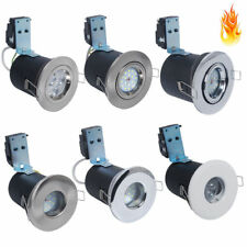 1/4/10x Fire Rated IP65 LED GU10 Recessed Ceiling Downlight Spotlight Fixed Tilt