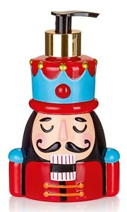 Christmas Nutcracker Peppermint Fragrance Filled Soap Dispenser 15cm Tall x10cm