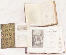 LOTTO TRE VOLUMI HEMELSCH PALMHOF BEZOEKEN JEZUS CHRISTUS 1856 LIGUORI PLANCHES