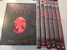 New ListingBerserk Box Of War 6 Vol Dvd Box Set Complete Series 6 All compete in Box Anime