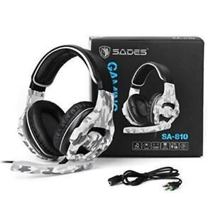 SADES SA-810 Multi Platform Gaming Headset Mic Chat Camouflage Xbox One S PS4 PC