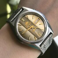 Japan Automatic Watch ORIENT Crystal Gray Line Chinese English Day Mechanical