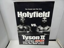 Evander Holyfield vs Mike Tyson II Media Info Packet Program MGM Grand Casino