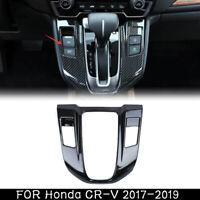 Carbon Fiber Gear Shift Panel Frame Cover Trim ABS For Honda CRV CR-V 2017-2019